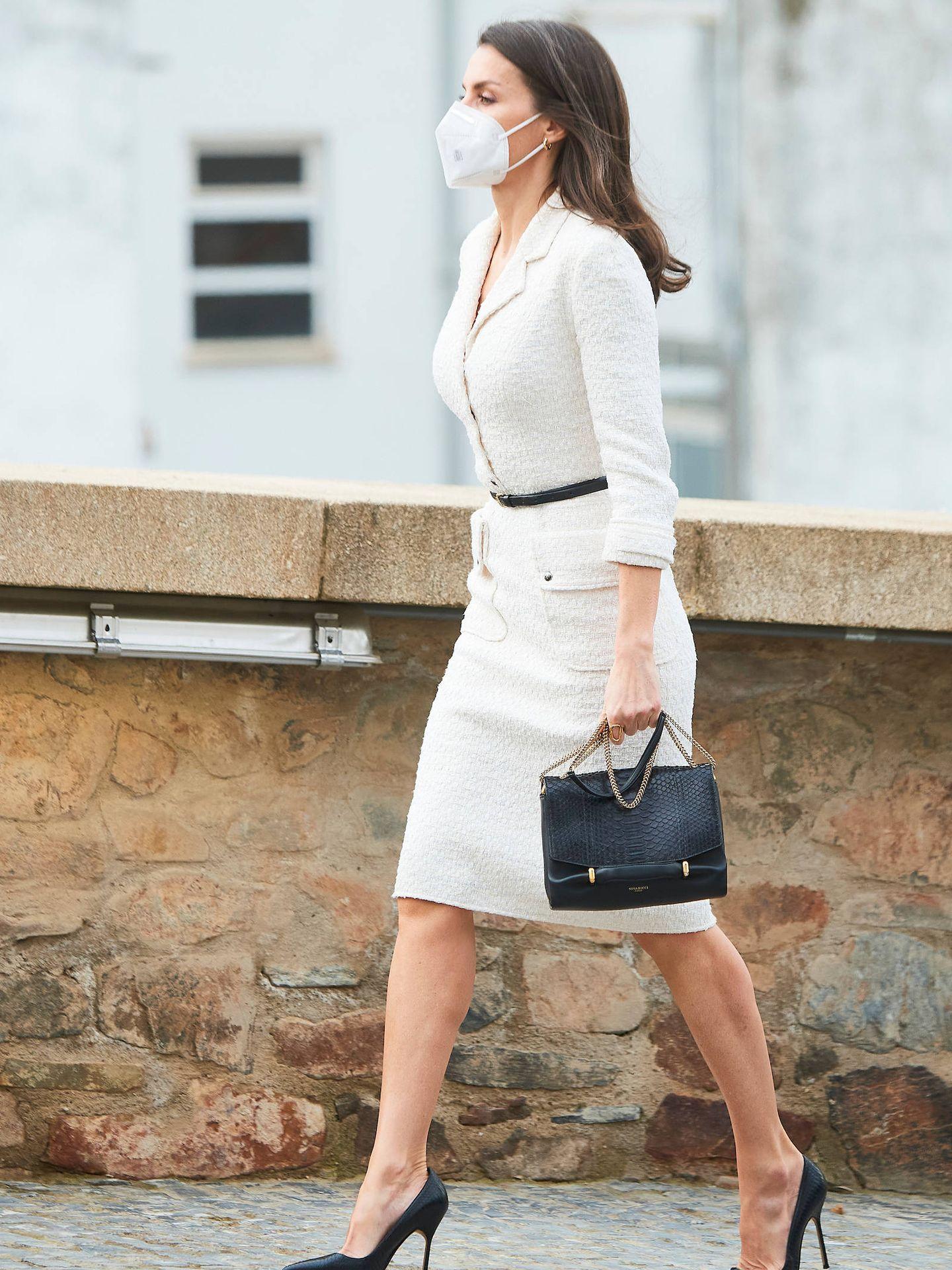 La reina Letizia, en su visita a Cáceres. (LP)