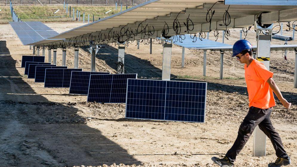 Foto: Imagen de un parque fotovoltaico. (EFE)