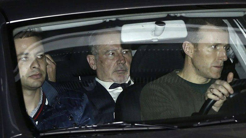 Rodrigo Rato, a su llegada a la AN en 2012, su primera declaración como imputado del caso Bankia. (EFE)