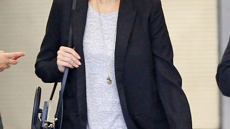 Corinna Larsen, en el aeropuerto de Miami. (CP)