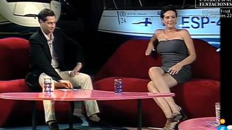 Rocío cuando era entrevistada en 'Tómbola'.