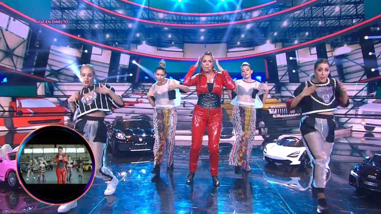 La actuación de Belinda Washington en 'Tu cara me suena'. (Antena 3)
