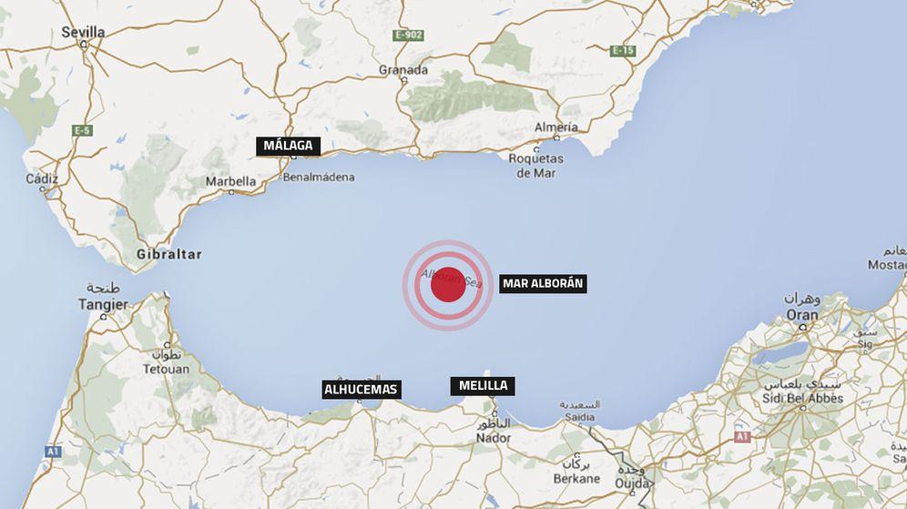 Foto: Mapa de localización del terremoto. (Brenda Valverde)