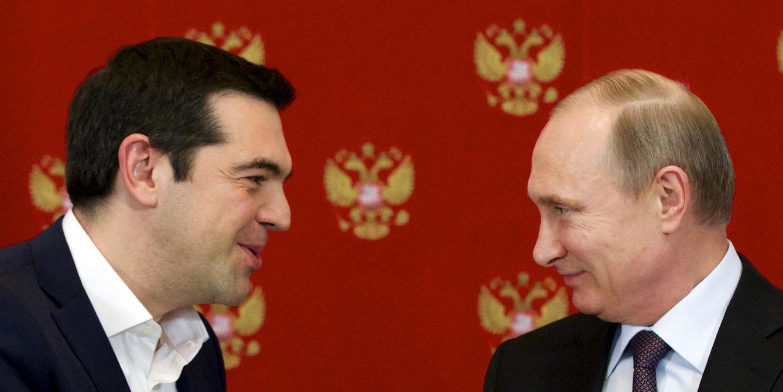 Foto: El presidente Putin durante un encuentro con Alexis Tsipras en el Kremlin, Moscú, el 8 de abril de 2015. (Reuters)