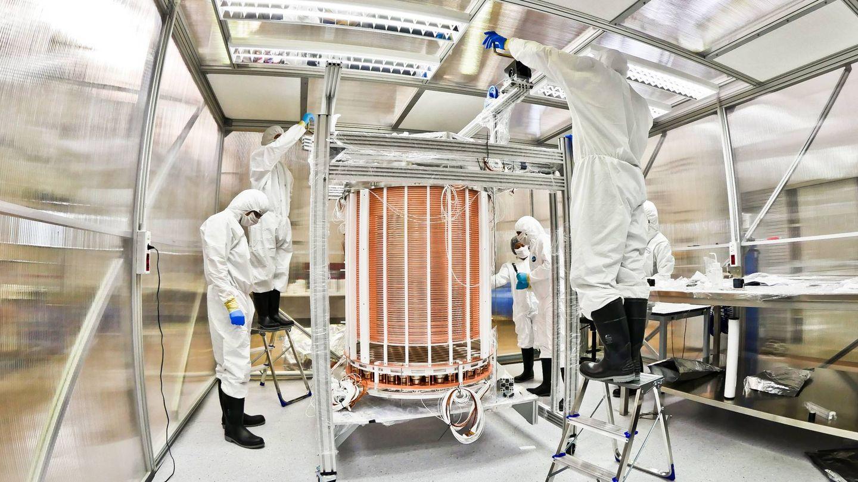 Trabajos en el laboratorio de Gran Sasso. Foto: XENON Collaboration/LNGS-INFN