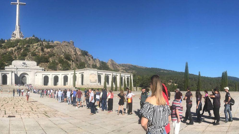 Foto: Vista general del Valle de los Caídos, el pasado fin de semana. (J.M.)