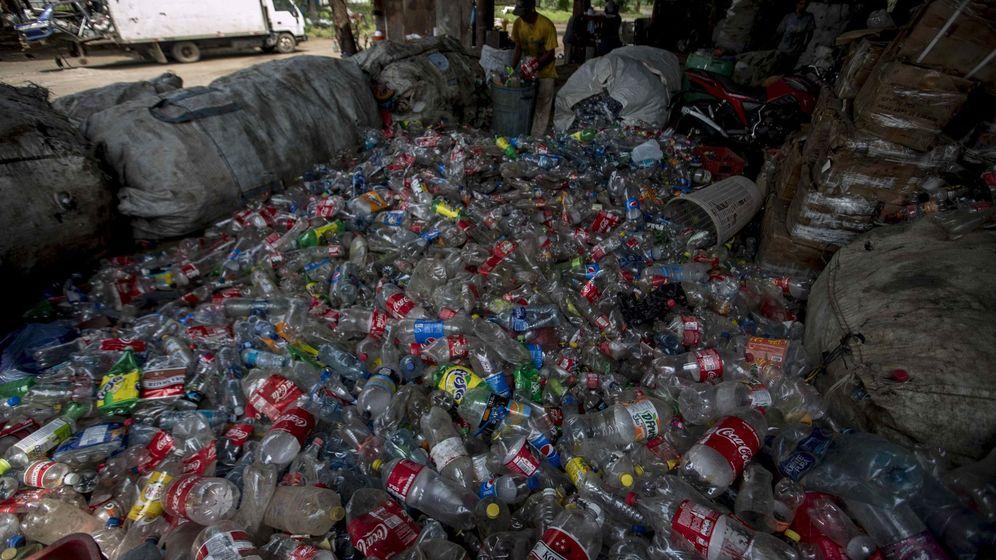 Foto: Estación de reciclaje de plásticos. Foto: EFE Jorge Torres