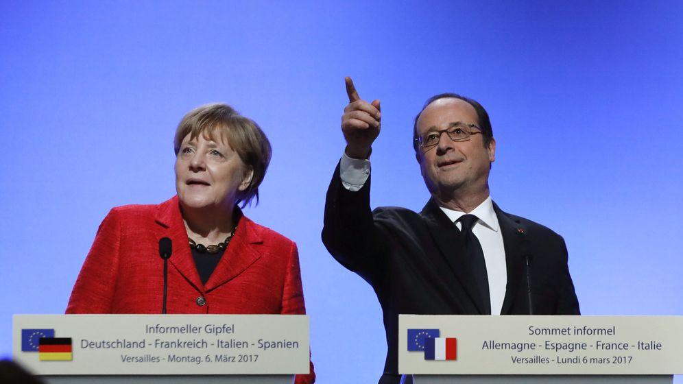 Foto: Angela Merkel y François Hollande. (EFE)