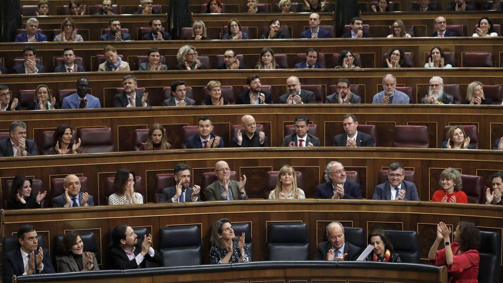 Foto: Un momento del pleno celebrado este martes en el Congreso de los Diputados en Madrid. (EFE)