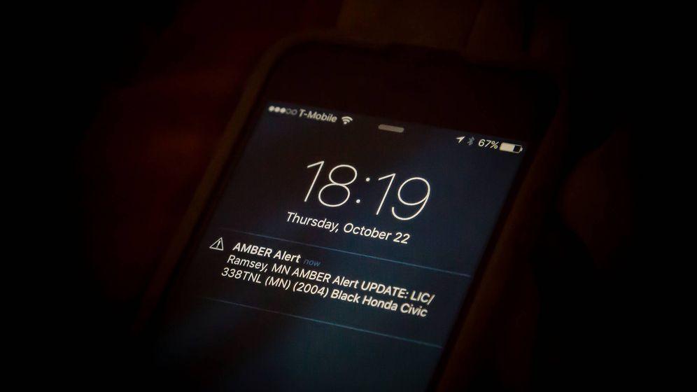 Foto: Notificación de desaparición de un menor a través de la alerta AMBER