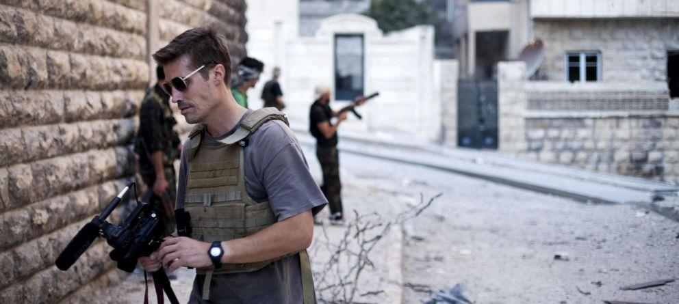 Foto: El periodista James Foley en Alepo, Siria, en una imagen difundida por la web freejamesfoley.org (AP).