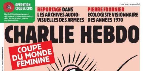 Asquerosa y vomitiva, así es la portada de Charlie Hebdo para el Mundial femenino