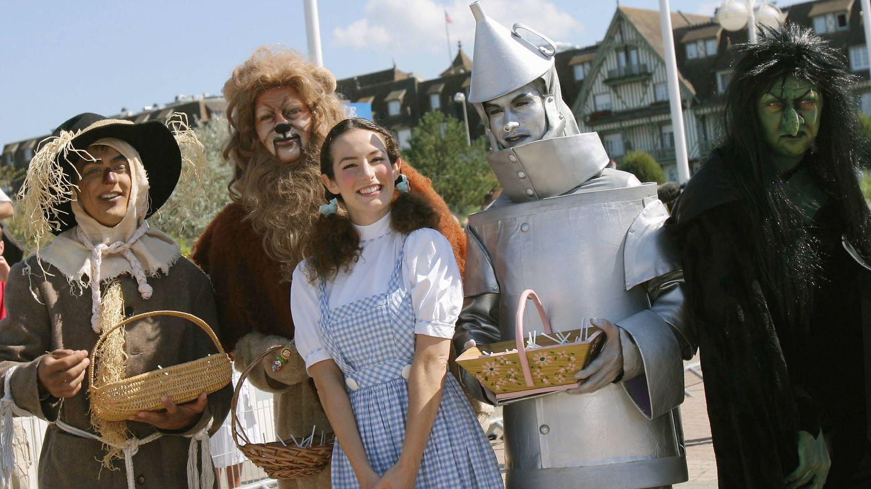 Actores recreando al reparto de la película en 2005. (Getty)