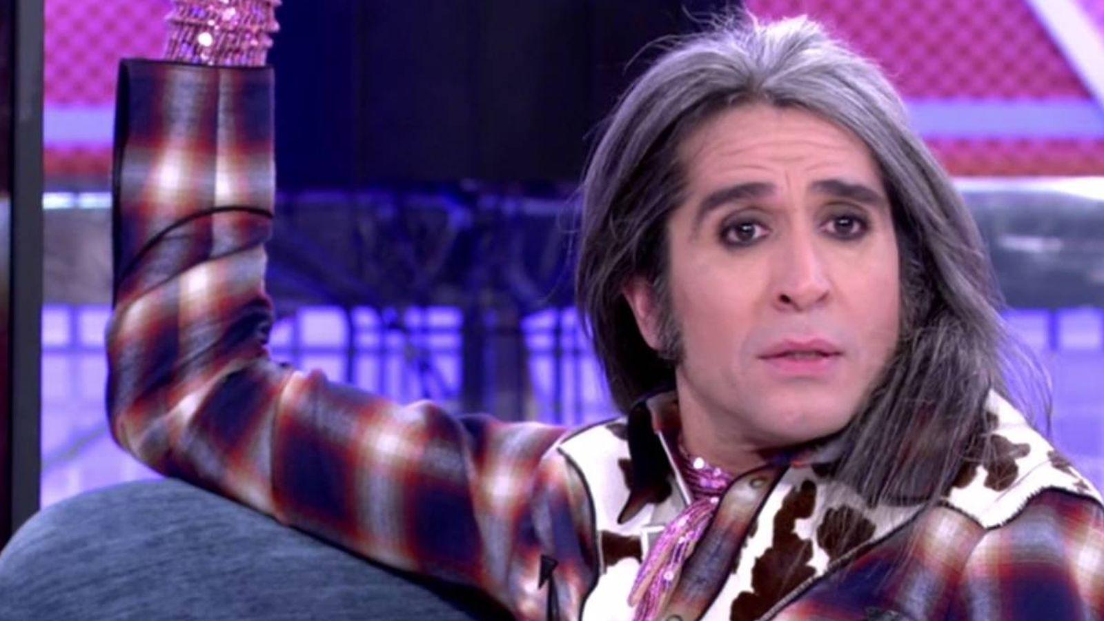 Foto: Mario Vaquerizo, en 'Sábado Deluxe'. (Telecinco).