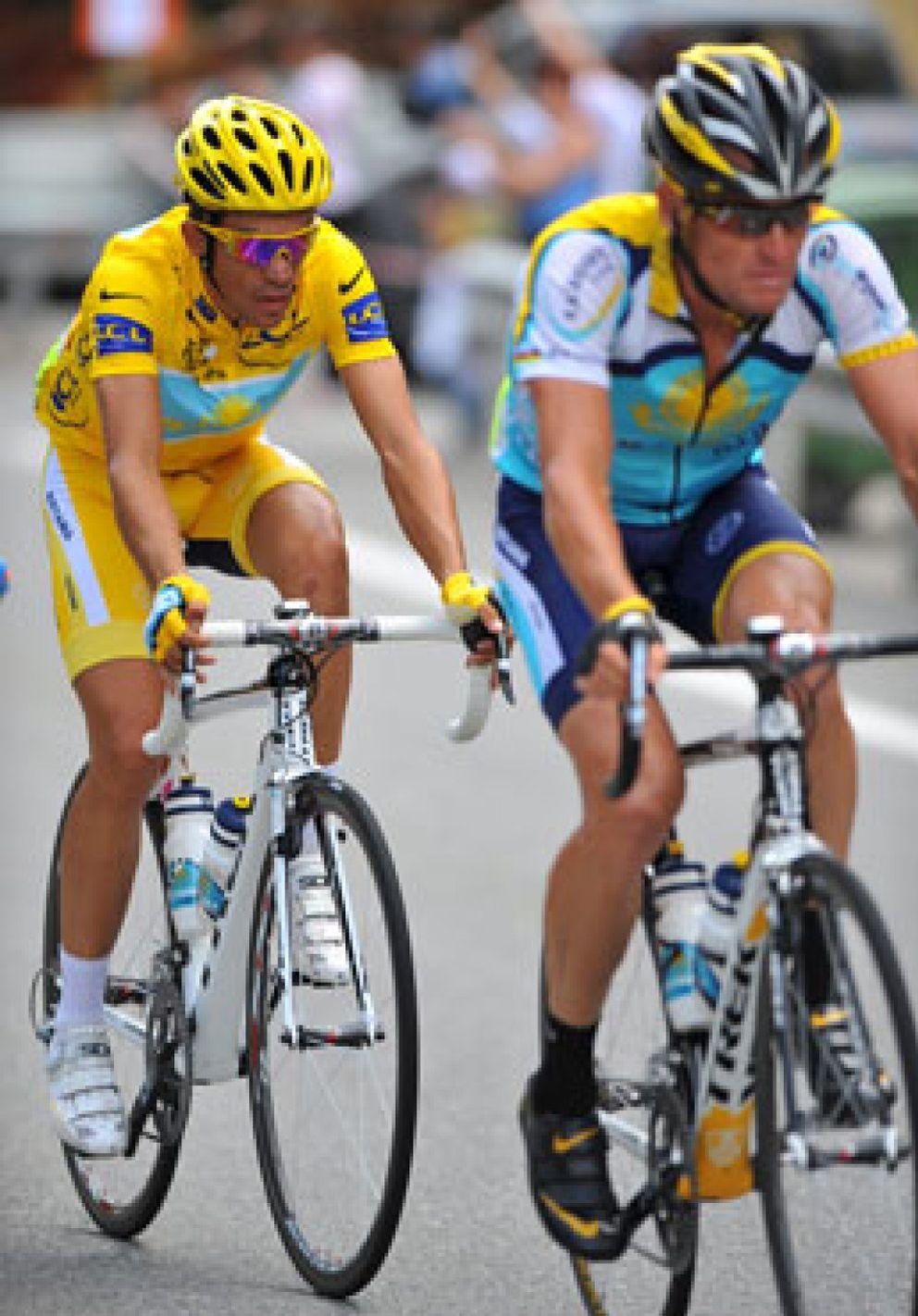 Foto: Armstrong confirma que nunca tuvo buenas relaciones con Contador