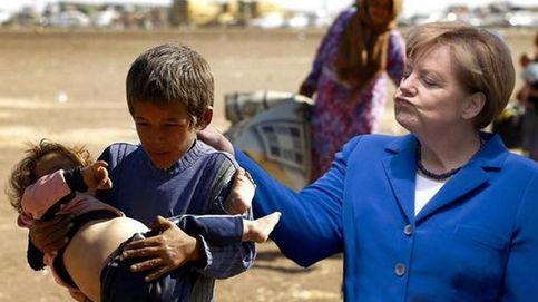 Avalancha de críticas contra Merkel por su fría actitud con la niña a la que hizo llorar