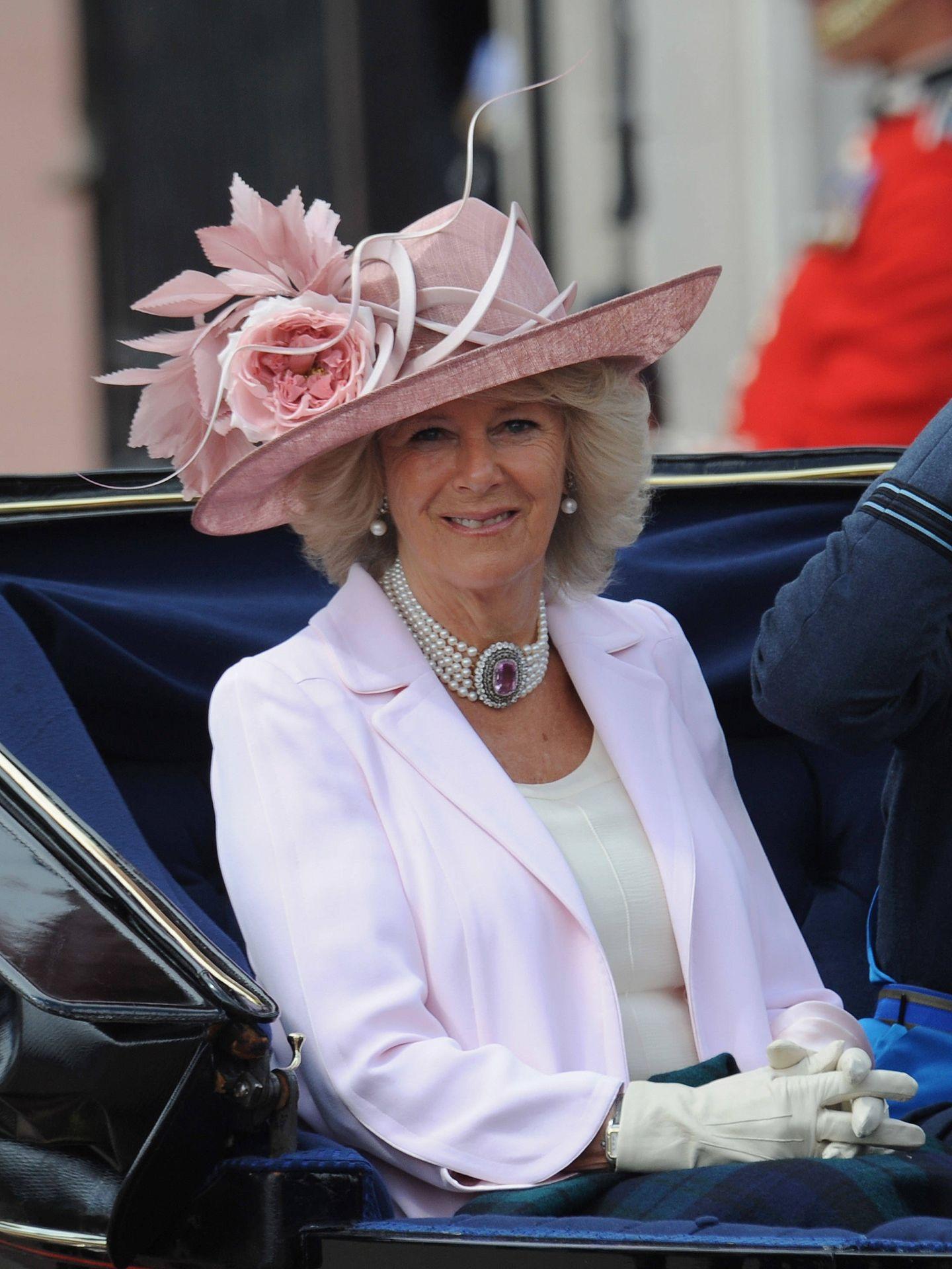 Camilla, en el Trooping The Colour de 2010. (Getty)