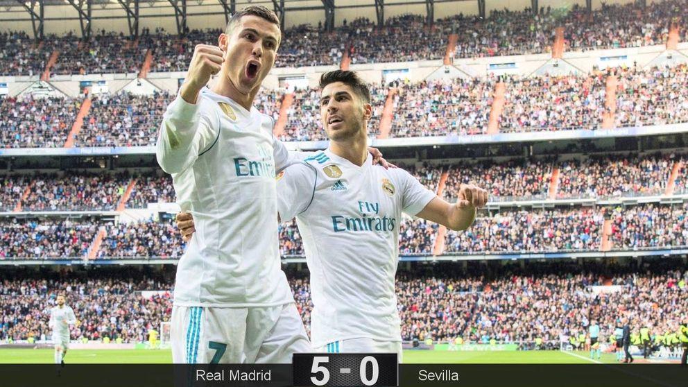 El Real Madrid se quita los males con un manotazo al depauperado Sevilla