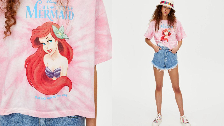 Camiseta de Ariel de Pull and Bear (14,99 euros).