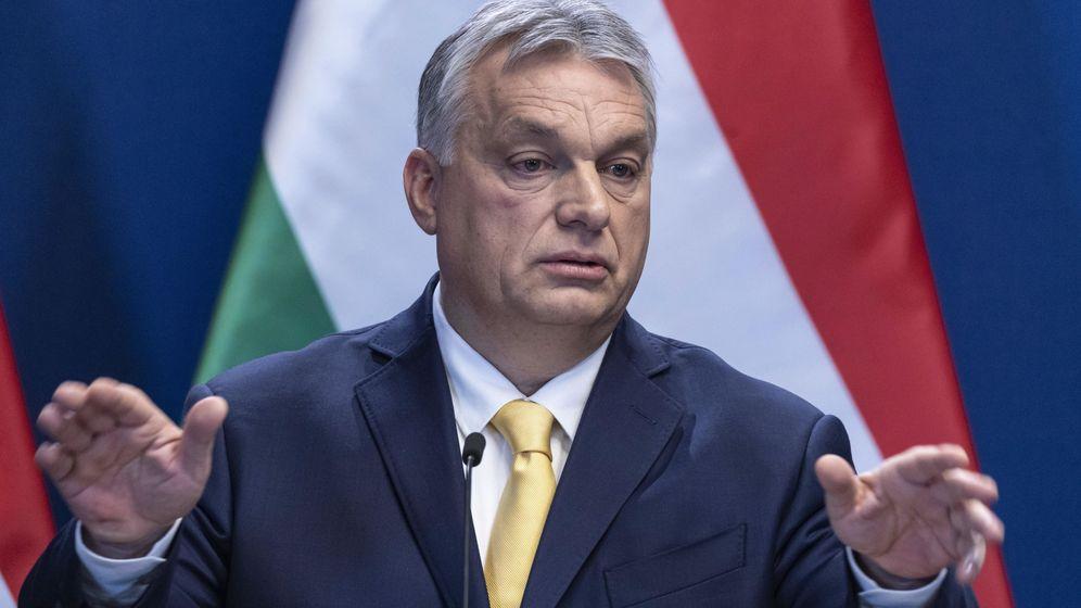 Foto: Viktor Orbán durante su discurso anual a la nación húngara, hoy por la mañana. (Reuters)