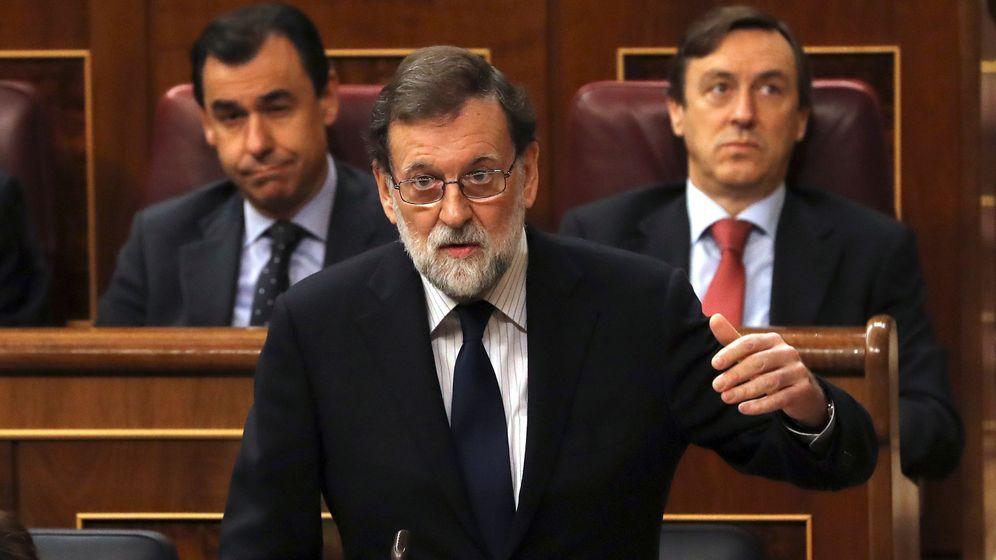 Foto: El jefe del Ejecutivo, Mariano Rajoy, durante su intervención en la sesión de control al Gobierno en el Congreso de los Diputados. (EFE)