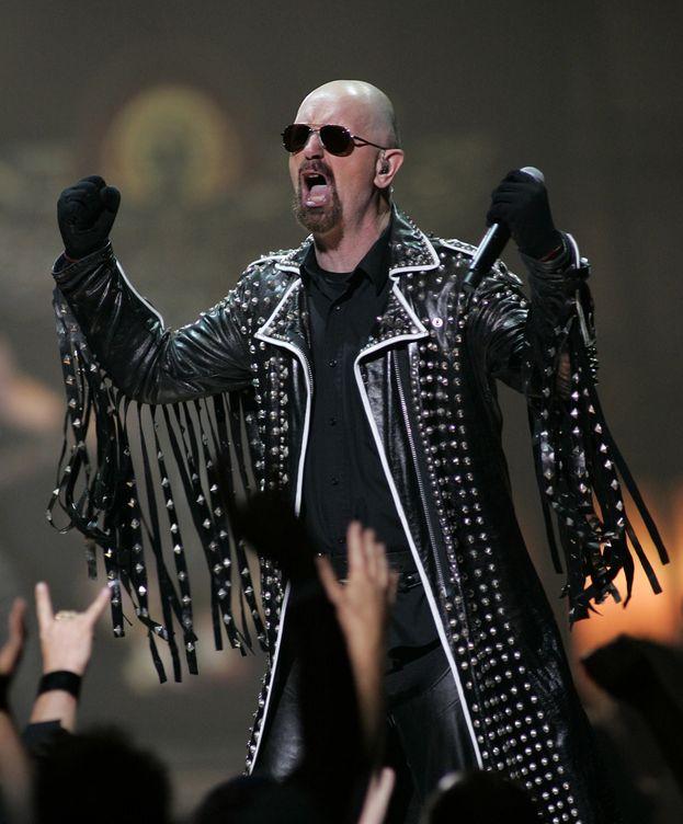 Foto: Rob Halford actuando con Judas Priest en el Mandalay Bay de Las Vegas.