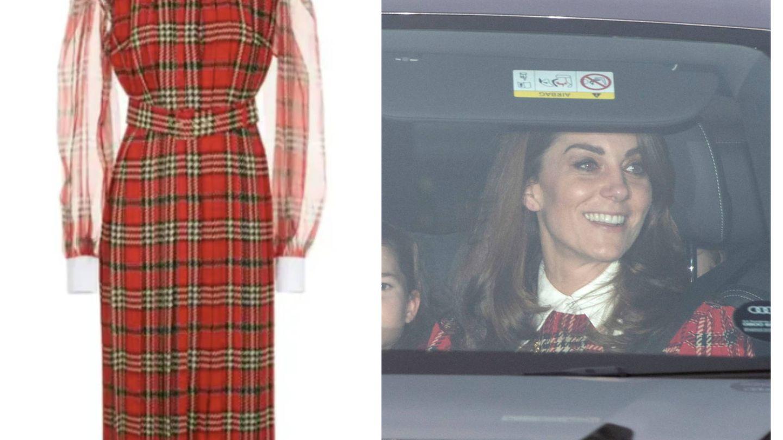 Kate y su vestido de Emilia Wickstead. (EFE)