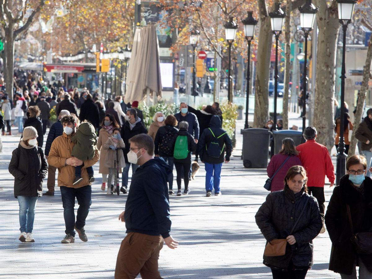Foto: Centro de Barcelona, este sábado. (EFE)