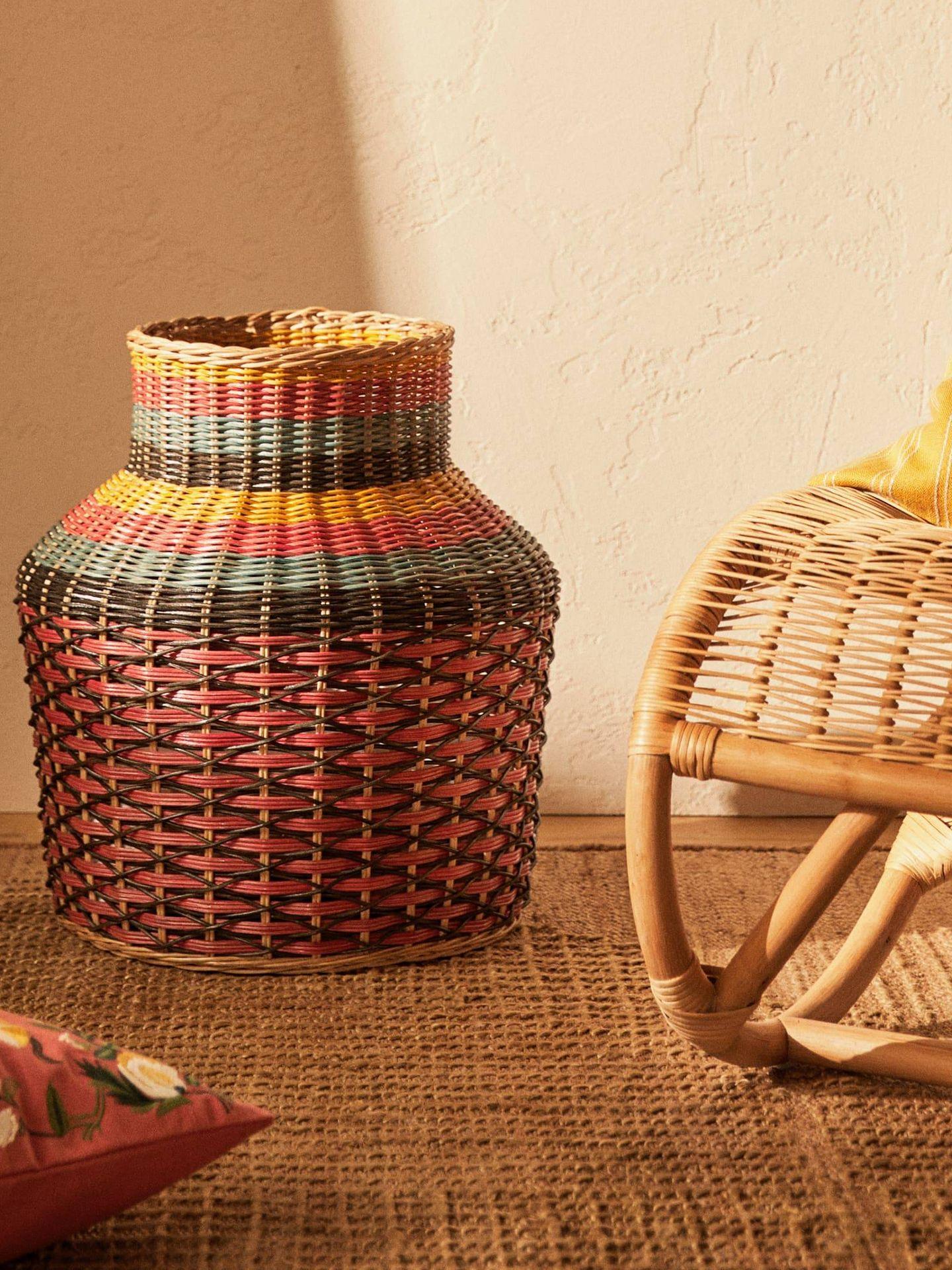 Decora con cestas de Zara Home. (Cortesía)