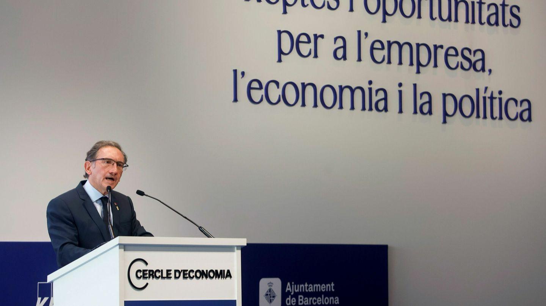 El 'conseller' de Economía, Jaume Giró, durante la Reunión del Cercle d'Economia. (EFE)