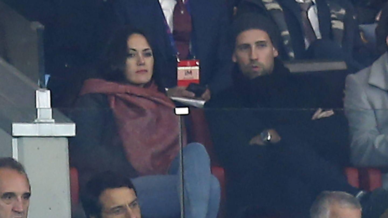 La pareja, en un momento del partido. (Lagencia Grosby)