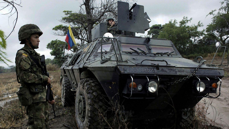 Soldados colombianos en la frontera con Venezuela en Cúcuta. (Reuters)