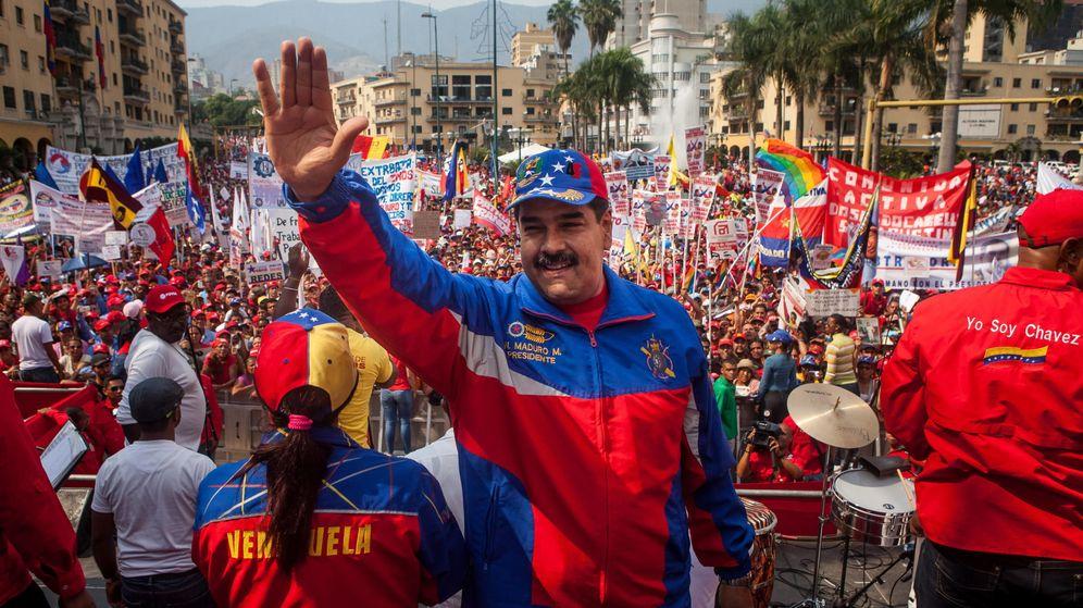 Foto: El presidente venezolano, Nicolás Maduro, en la celebración del Día del Trabajador. (EFE)