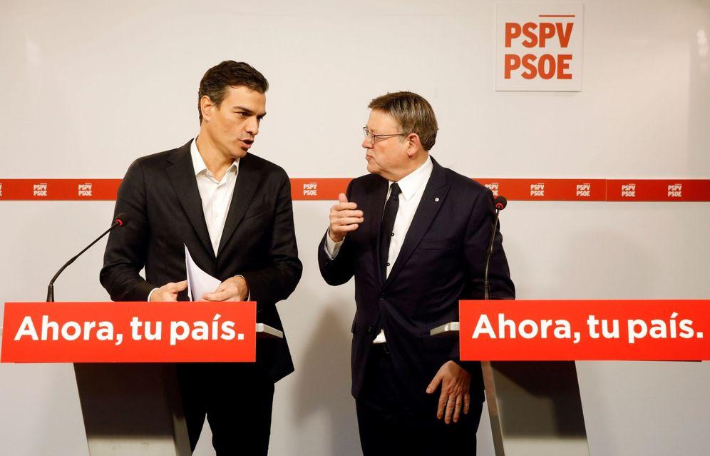Foto: Pedro Sánchez y el presidente valenciano y líder del PSPV, Ximo Puig, este 20 de noviembre en Valencia. (EFE)