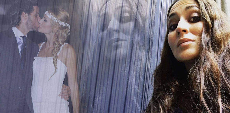 Foto: Huga Rey junto a una imagen de Feliciano y Alba Carrillo en un fotomontaje de Vanitatis