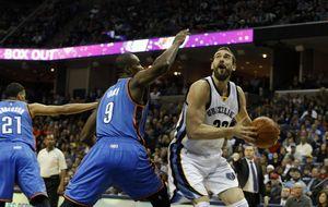 Gasol y unos Grizzlies intratables superan a los Thunder de Durant