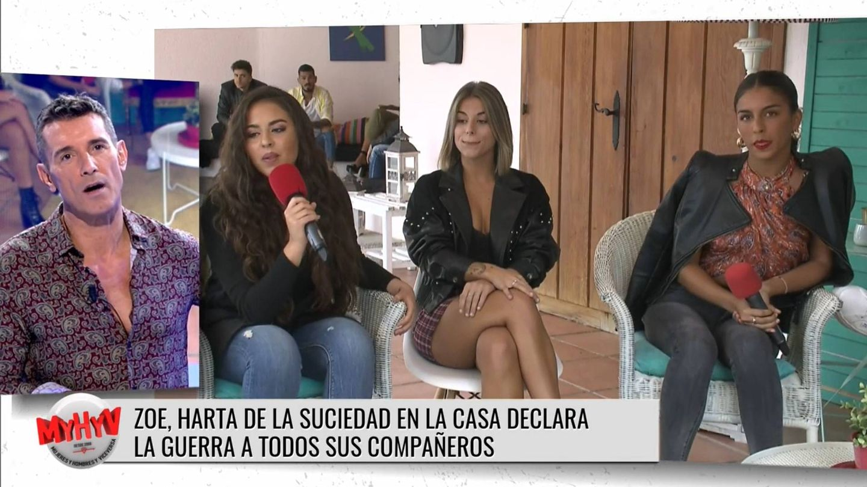 Jesús Vázquez, en conexión con Clara y Zoe. (Mediaset)