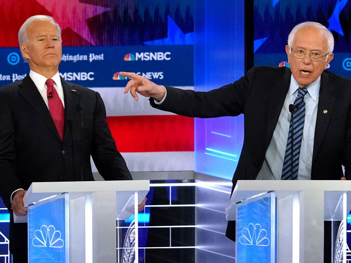 Foto: Joe Biden y Bernie Sanders en una foto de archivo (Reuters)