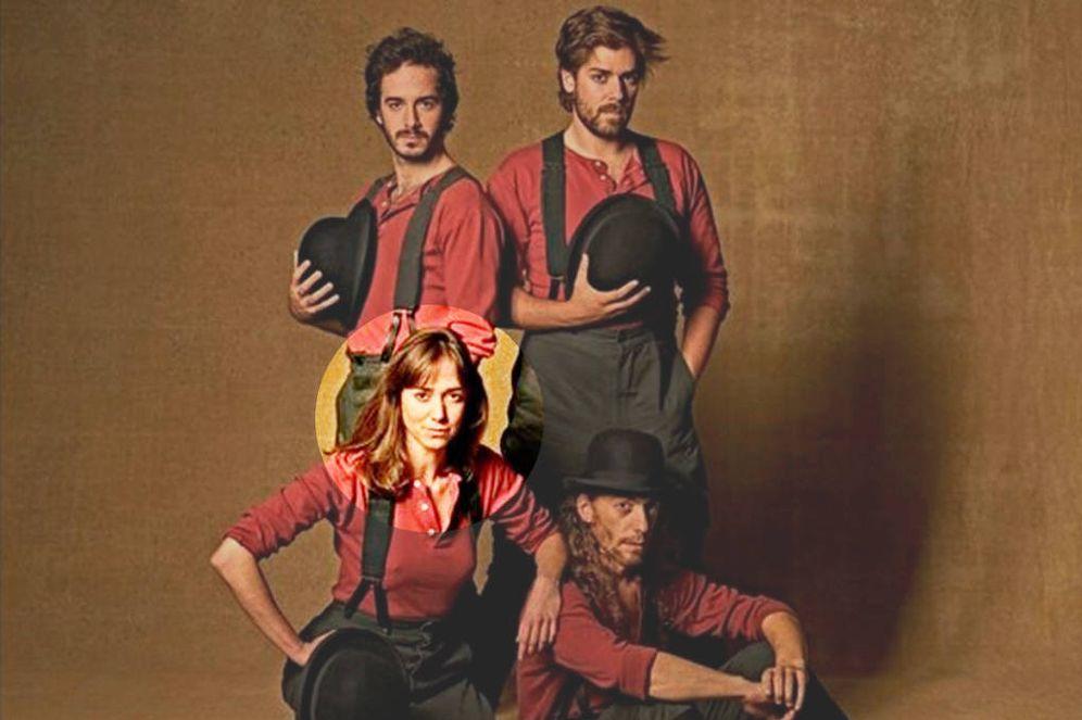 Foto: Anna Maruny (abajo a la izquierda), esta primavera, en su primer papel para la Compañía Nacional de Teatro Clásico, el pasado abril, en 'El Castigo sin Venganza'