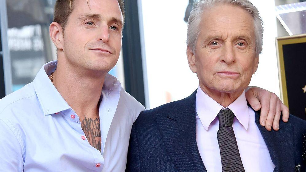 Foto: Cameron y Michael Douglas, en una imagen de archivo. (Getty)