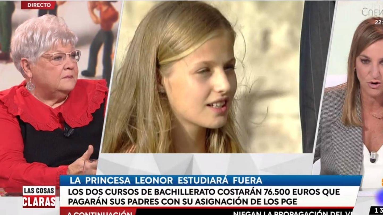 Dos tertulianas discutiendo sobre el futuro académico de Leonor. (RTVE).