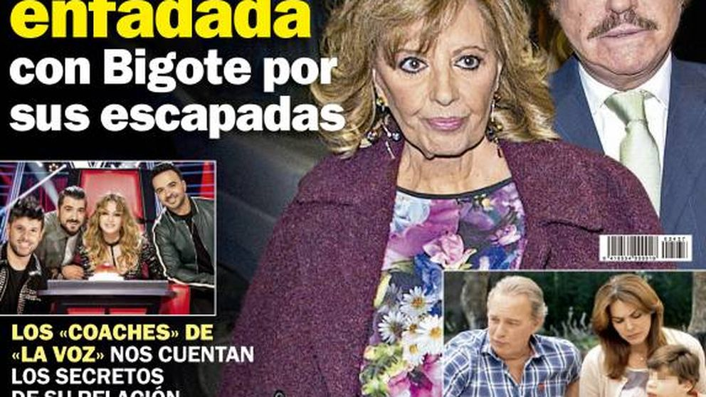 El enfado de María Teresa Campos con Bigote y el dolor de Bárbara Rey