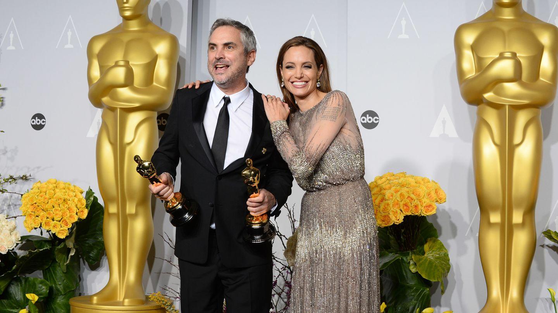 Alfonso Cuarón y Angelina Jolie