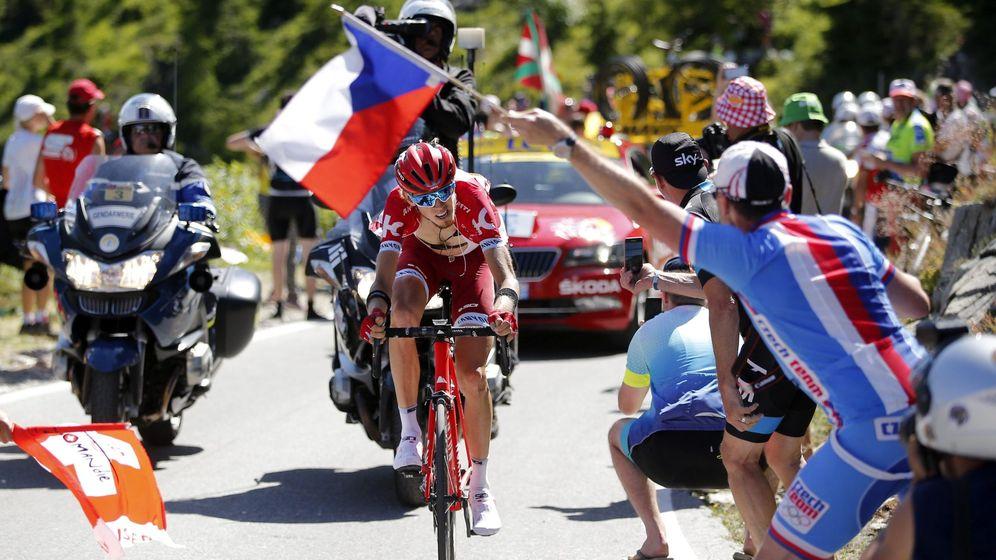 Foto:  Ilnur Zakarin durante el Tour de Francia 2016 (YOAN VALAT/EFE)