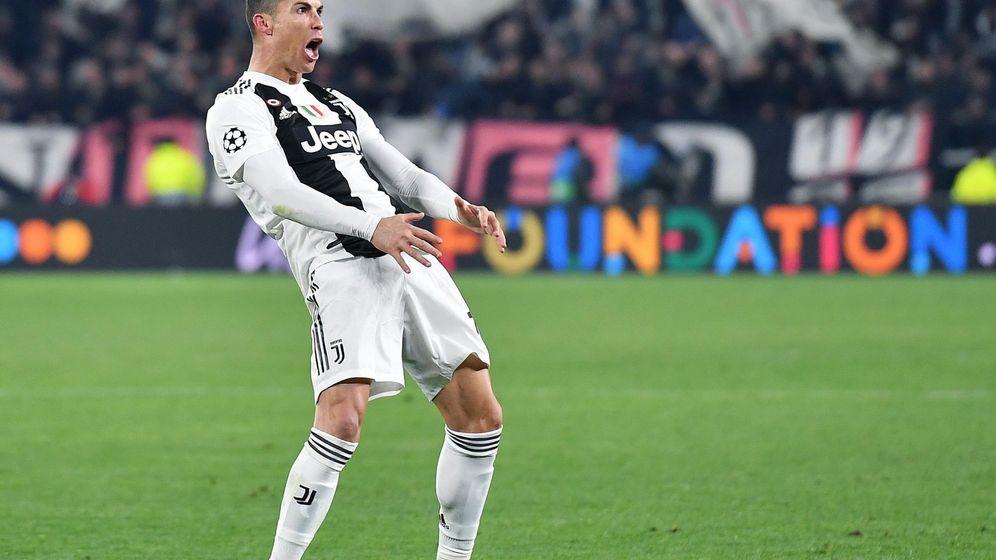 Foto: El gesto de Cristiano Ronaldo tras la victoria de la Juventus contra el Atlético de Madrid. (EFE)