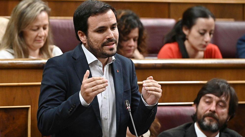 Foto: Alberto Garzón, en el Congreso (EFE)