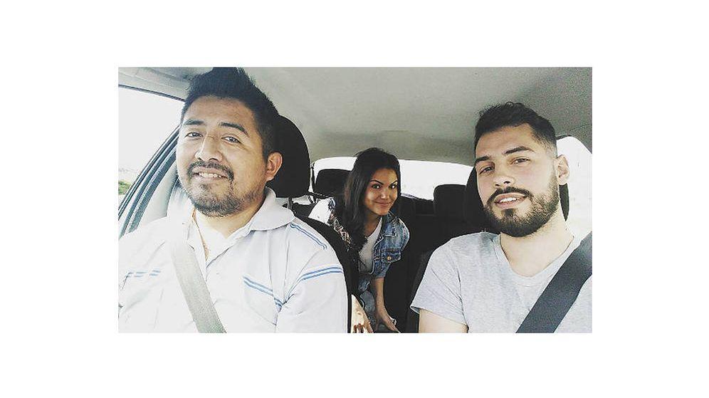 Foto: Eliel y sus compañeros de Blablacar en una fotografía que compartieron por redes sociales