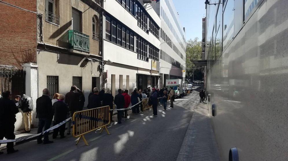 Foto: Cola este jueves en las oficinas de la Junta Electoral de la Zona Centro.