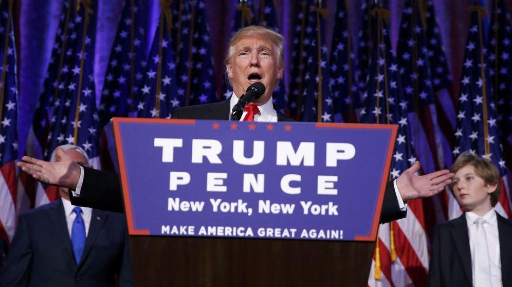 Foto: Donald Trump, elegido presidente de Estados Unidos, durante su discurso en Nueva York. (Reuters)