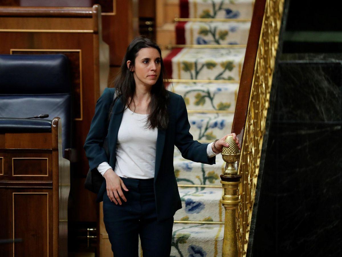 Foto: La ministra de Igualdad, Irene Montero, en el Congreso. (EFE)